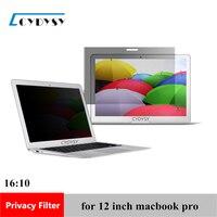 12 pulgadas de Pantalla Filtro de Privacidad Protector de Cine para MacBook pro Portátil 10 7/8
