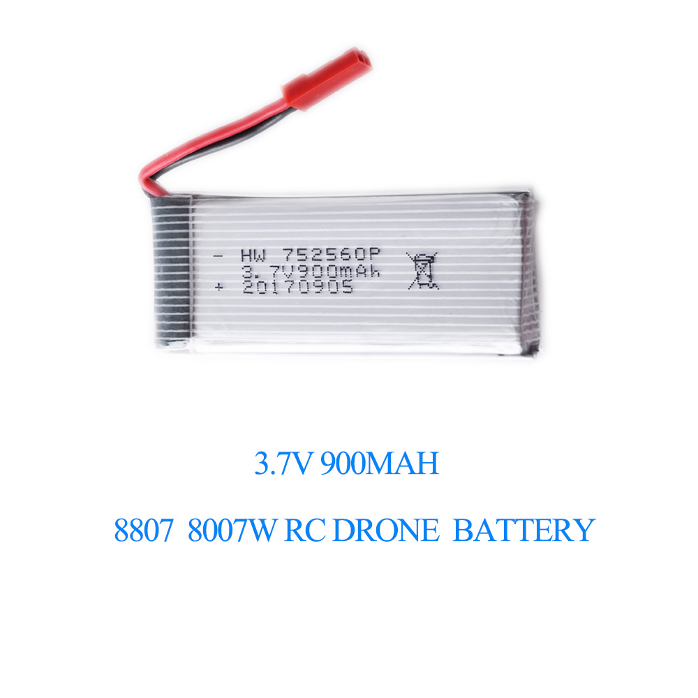 8807 8807W Drone Battery 3.7v 900mAh LI-PO Spare Battery 1 IN 5 Charge Cable Spare Parts & Accessories