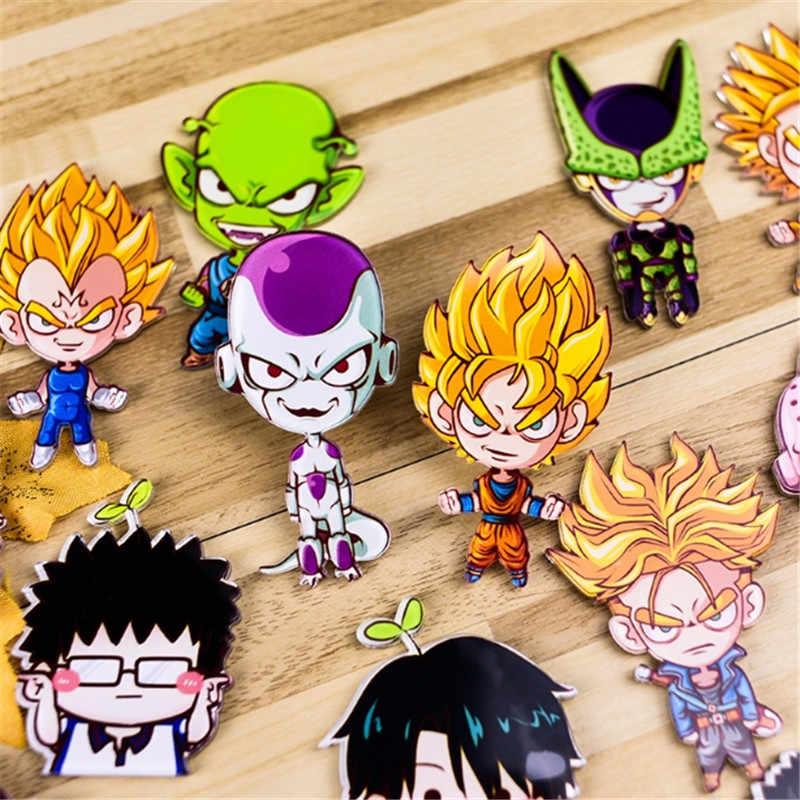 1 PC Dragon Ball Z Plastik Bros Lencana Pin Bros Kreatif Kartun Bros Pin Denim Topi Lencana Kerah Perhiasan