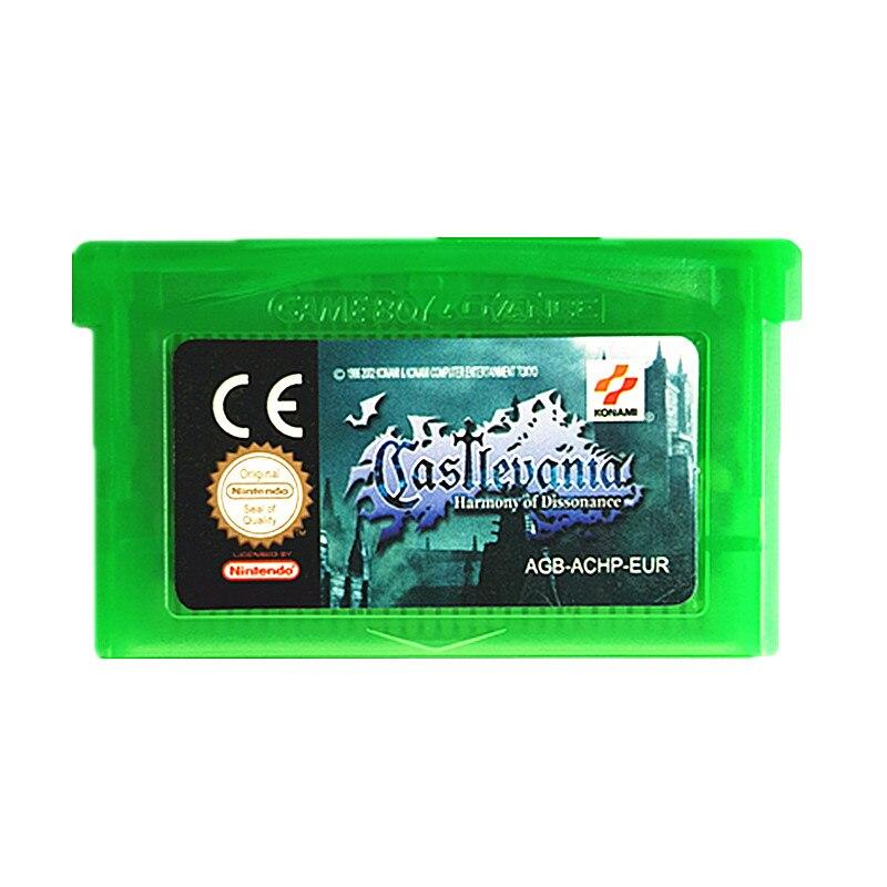 Nintendo GBA Game Castlevania Harmony of Dissonance Video Game Cartridge Console Card EU English Language
