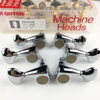Genuine Original L3+R3 GOTOH SGL510Z L5 Electric Guitar Machine Heads Tuners ( Chrome Silver ) MADE IN JAPAN