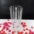 6 PÇS/LOTE Casamento Acrílico Bolo Stand Centro Diâmetro 15 CM X Altura 45 CM Prateleiras Flor Decoração