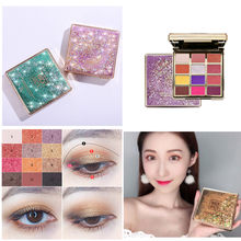 NEW 12 Colors Pearlescent Matte Glitter Eyeshadow Pallete Dreamy Romantic Eye Pigment Long Lasting Makeup Cosmetics TSLM2(China)