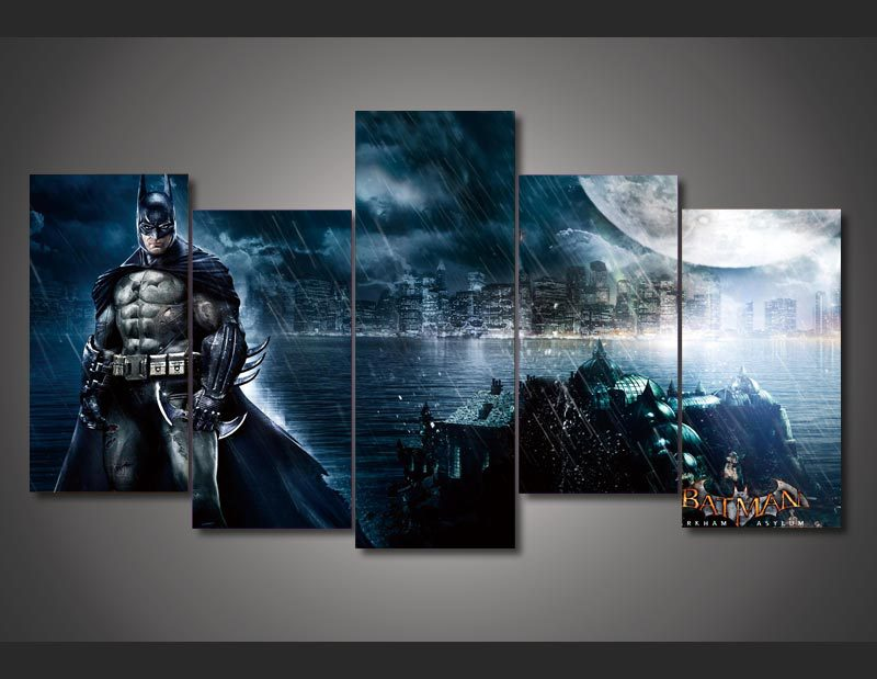 HD Printed Batman Movie Poster Painting on canvas room decoration ...