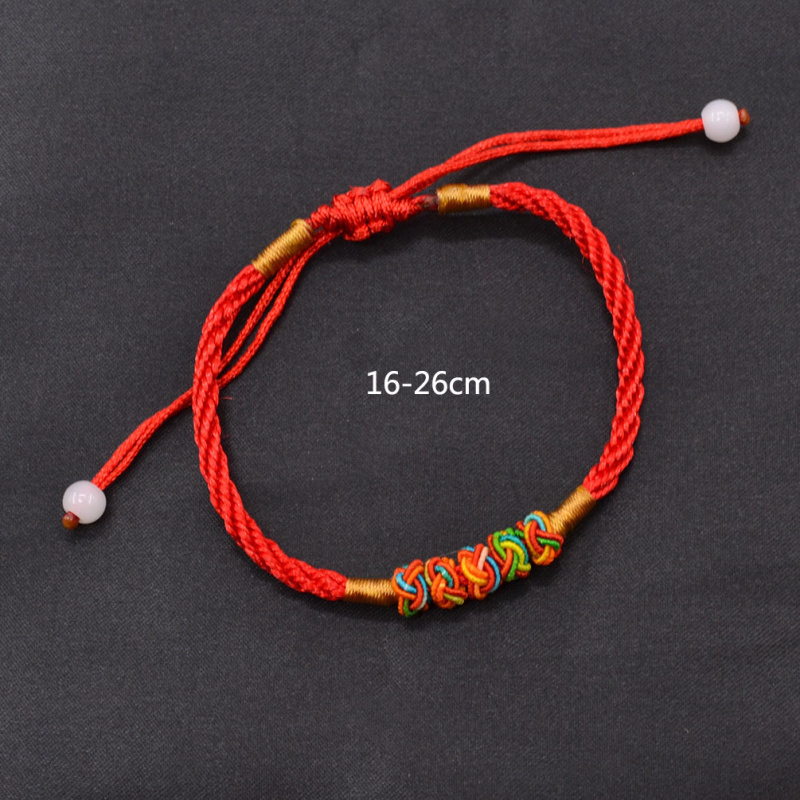 Fashion Lychee Red Rope String Bracelet Chinese Oriental