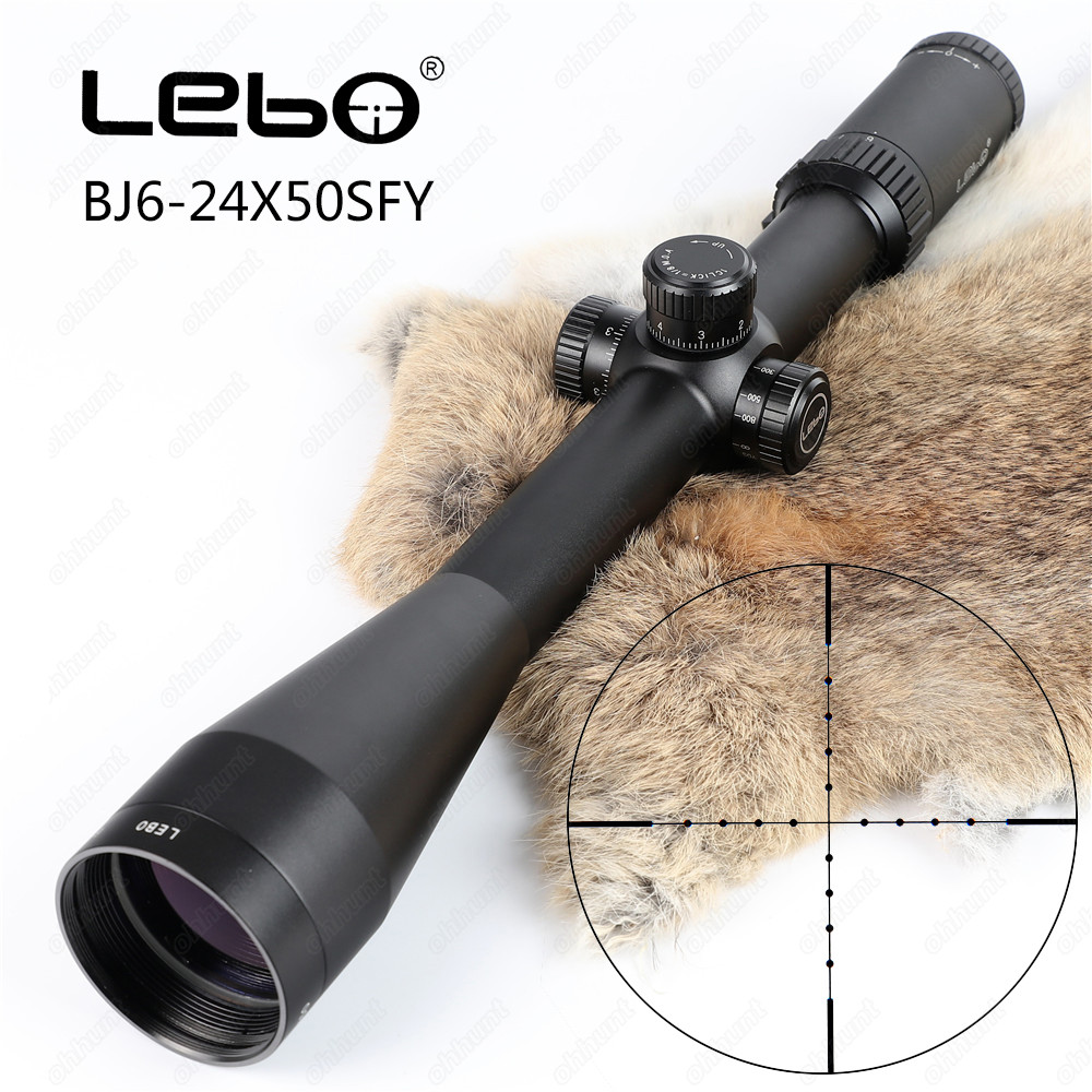 LEBO BJ 6-24X50SFY First Focal Plane Rifle Scope Side Parallax Mil-dot Glass Etched Reticle Hunting Tactical Shooting Riflescope marcool evv 6 24x50 sfirgl first focus plane tactical rifle scope