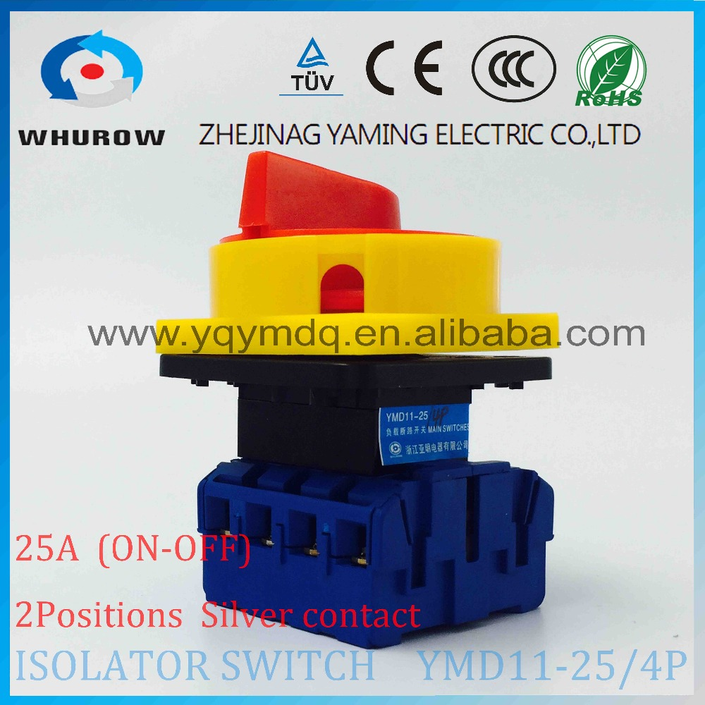Isolator switch YMD11-25A 4P load break switch universal power cut off switch on-off changeover cam switch 8 sliver contacts original switch on off power