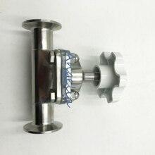"""1/"""" труба OD 15 мм санитарная нержавеющая сталь 316L Tri-Clamp OD 50,5 мм мембранный клапан силиконовый"""