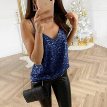 Sexy party Sling Sequins tunci women t shirt sleeveless V neck slim summer tops 2019 new vogue sale hot vintage girl streetwear