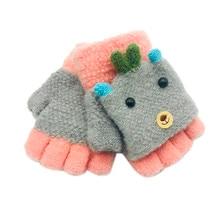 NZ150 Baby Kids Children Snow Stripe Gloves Soft Knit