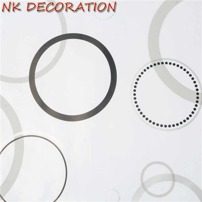 NK DECORATION Black White Wreath Flowers PVC For Child Bedroom TV Back Door Furniture Wardrobe Desktop Wallpaper Wall Sticker