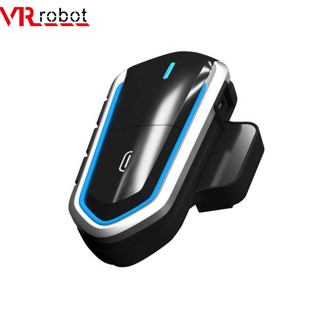VR Robot Tahan Air Moto Bluetooth V4.1 Helm Headset Motor FM Radio Headset Stereo Helm Earphone dengan Handsfree