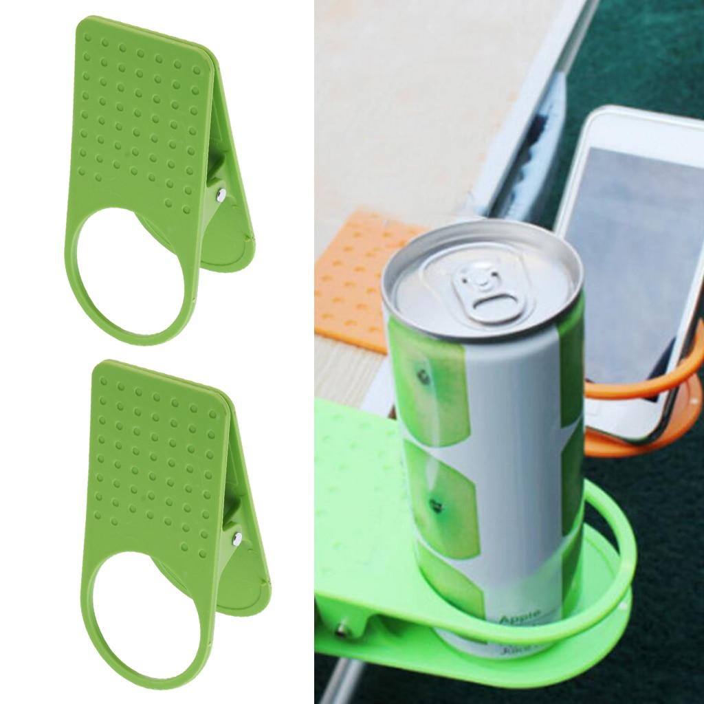 2pcs Desktop Table Desk Clip Water Drink Cup Holder Coffee Mug Rack Tool