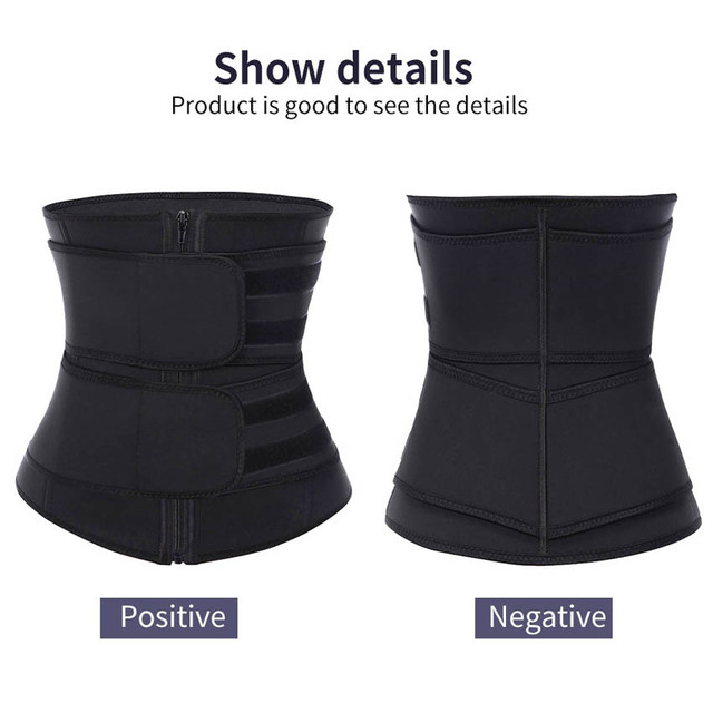 Neoprene Waist Trainer Body Shaper Slimming Wrap Belt Sauna Waist Trainer Cincher Corset Fitness Sweat Belt Girdle Shapewear 4