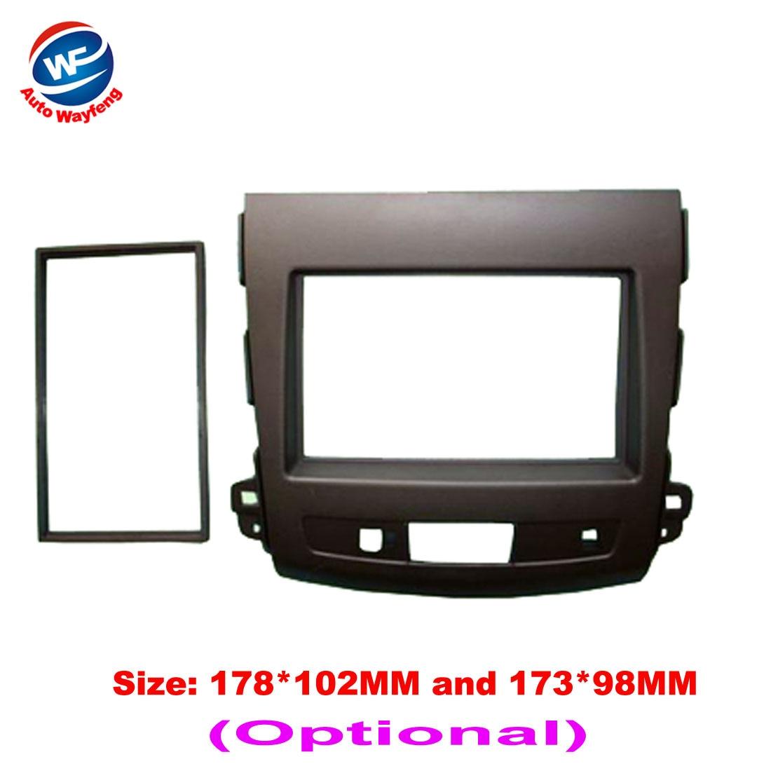 2016 Car refitting DVD frame,DVD panel,Dash Kit,Fascia,Audio frame For MITSUBISHI OUTLANDER LX,Peugeot 4007,Citron C-crosser