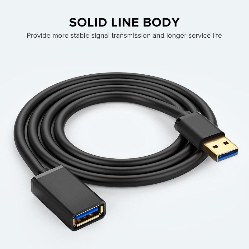 1 м USB 3,0 2,0 удлинитель USB кабель для смарт ТВ PS4 Xbox One SSD USB к Extender данных шнур Mini USB кабель-удлинитель