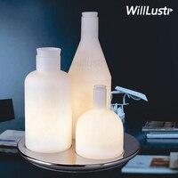 Настольная лампа в виде бутылки 123  Реплика ITRE Guido Rosati Bacco  дизайн прикроватного дивана  для отеля  модное прозрачное молочное белое стекло  на...