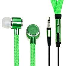 Sıcak satış taşınabilir kulaklık ayakkabı bağı Metal kulak 3.5mm Jack kulaklık bas kulaklık Stereo spor mikrofonlu kulaklıklar ve