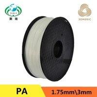 1.75mm PA Nylon 3D Printer Filament For MakerBot RepRap UP Mendel 1KG/Spool 3D Printer Filament Consumables Material