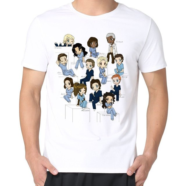 Mens Cute Cartoon Funny Greys Anatomy T Shirts In T Shirts From