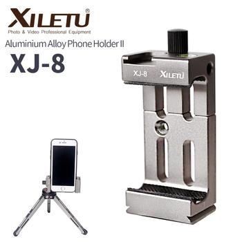 XILETU XJ-8 uchwyt do telefonu komórkowego klip wspornik głowicy statywu do telefonu latarka mikrofon z poziomica i uchwyt na buty zimne tanie i dobre opinie Aluminum