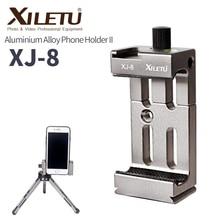 Держатель XILETU XJ 8, кронштейн для головки штатива для телефона, фонарика, микрофона с спиртовым уровнем и креплением холодного башмака
