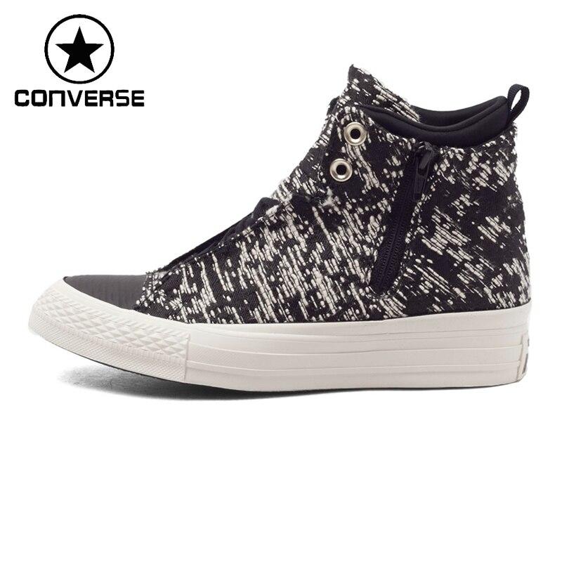 Prix pour Original Nouvelle Arrivée Converse Femmes de Haute top Planche À Roulettes Chaussures Toile Sneakers