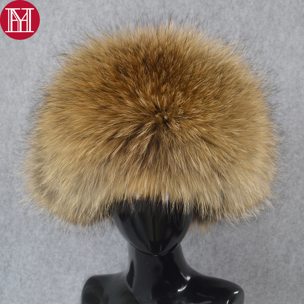 hot sale outdoor men winter real fox fur hat warm soft quality real raccoon fur bombers cap luxury real sheepskin leather hats(China)