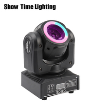 Fast delivery 60W Mini Led beam moving head with led circle spot wash RGBW 4 In 1 stage effect DMX 512 Control KTV DJ Party lite стоимость