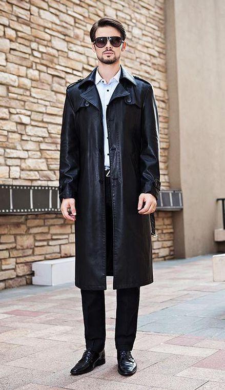 Popular Mens Long Leather Coats-Buy Cheap Mens Long Leather Coats ...