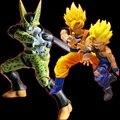 Figura de Dragon Ball Z Super Saiyan Goku y Gohan vs Celular PVC Figuras de Acción juegos de Construcción