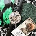 2019 mode Top Marke Luxus Uhr Frauen Einzigartige Dreh Diamant Frauen Kleid Uhr Wasserdicht Schwarz Designer Frauen Uhren Geschenk