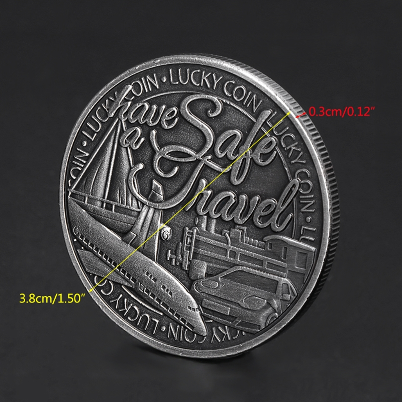 Commemorative Coin Lucky Travel Safety Shipping Collection Arts Gifts Souvenir