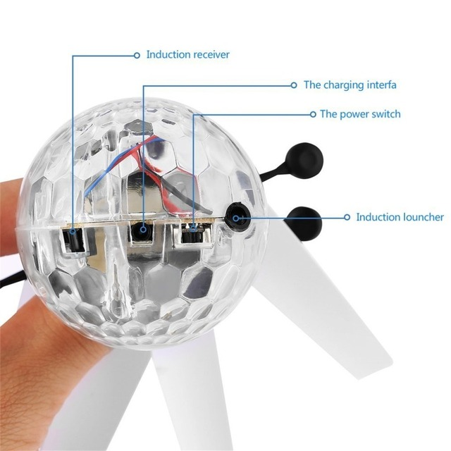 Remote Control Flying Crystal Ball LED Flashing Light Infrared Induction Helicopter Ball Funny Toy Gift For Kids