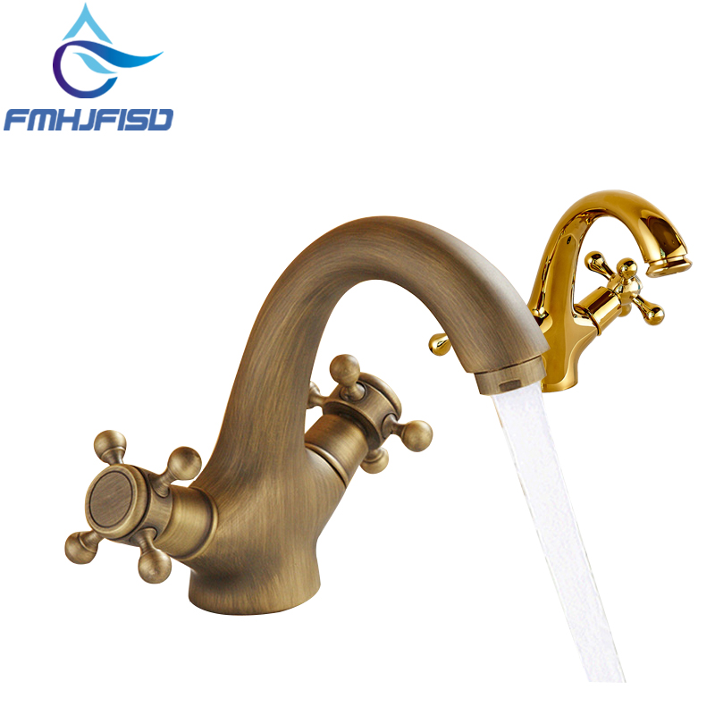 Bathroom Lavatory Sink Mixer Water Taps W Hot Cold Pipes