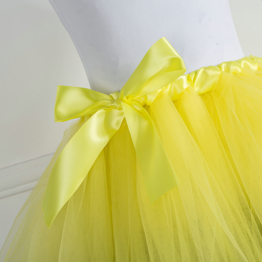 e32f29d26 Girl's Black Ribbon Trimmed Princess Tutu Yellow Tulle Skirt Handmade  Birthday Party Dance Ballet for Child Size 2 12 years -in Skirts from  Mother & Kids on ...
