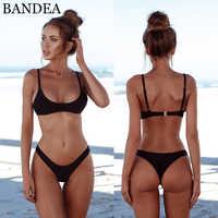 BANDEA 2019 Bikini Set Sexy Push Up Bademode Frauen Feste Badeanzug Bademode Tanga Badeanzug Brazilian Schwimmen Anzug Sommer
