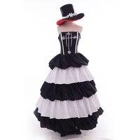 Een Stuk vrouwen Princess Mononoke Perona Cosplay Kostuum Lolita Lange Rok Reed Gothic Look Avondjurk Jurk