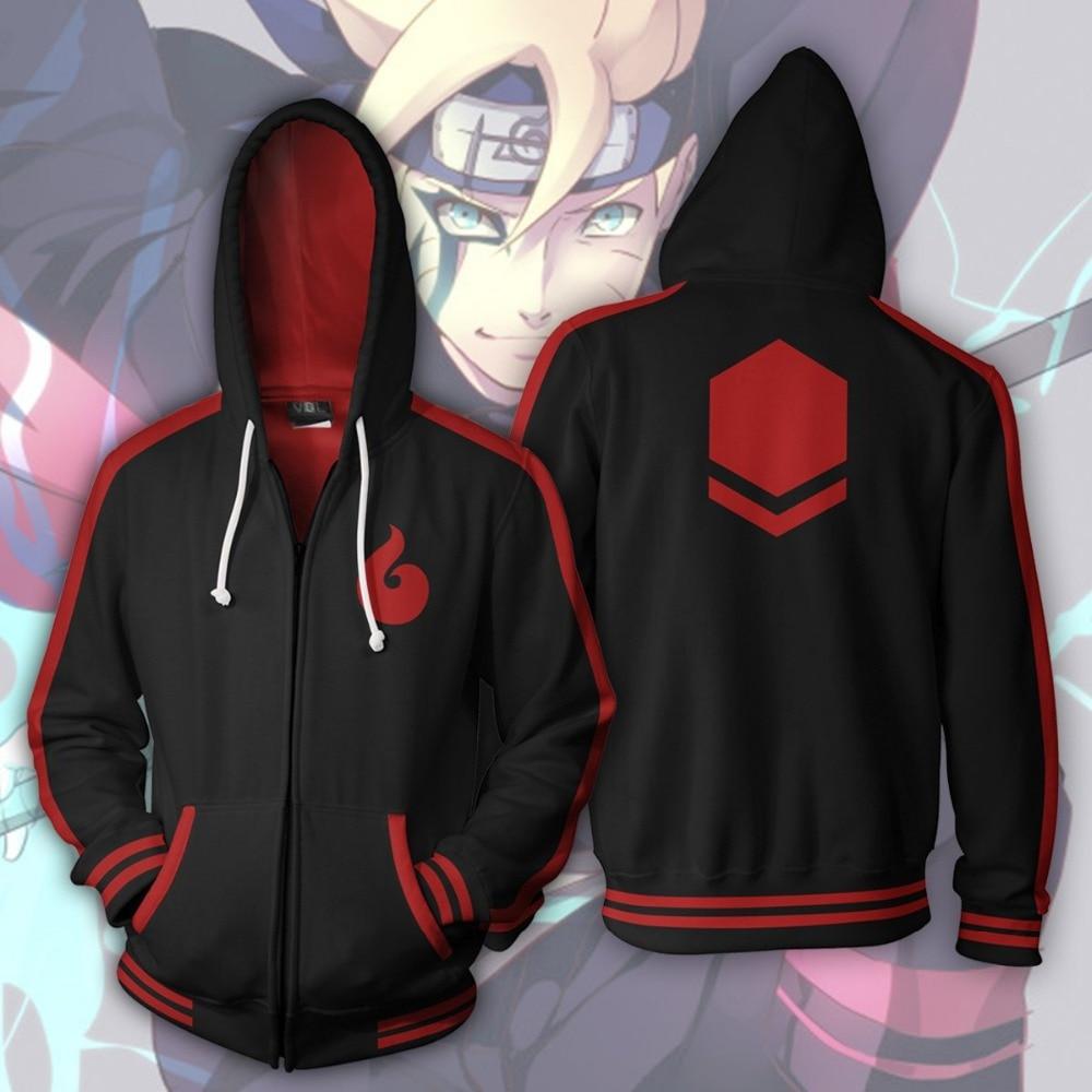 Naruto Sweatshirts Cosplay Uzumaki Boruto Hoodies Costume Men Women Sweatshirts