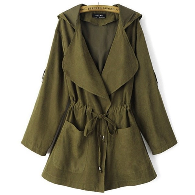 2020 Bomber Long Coat with Hood Womans Fashion 5
