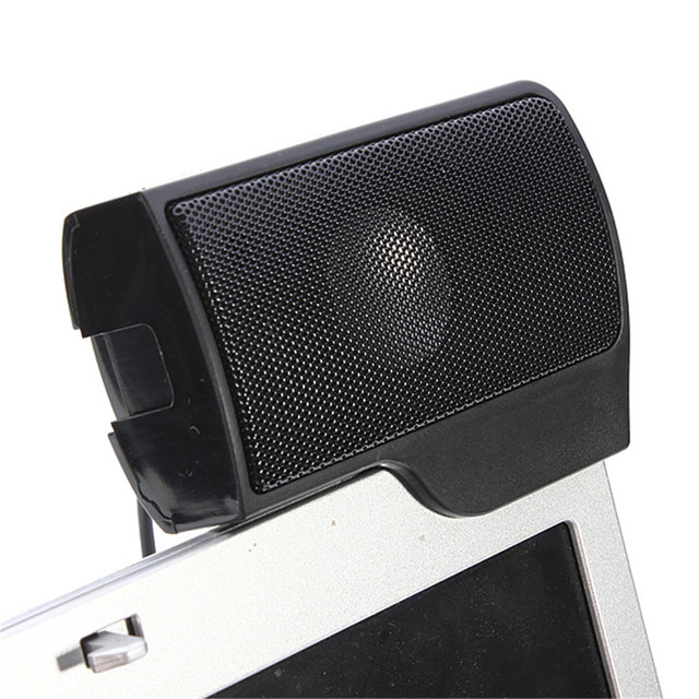 SCOMAS Portable Mini USB Stereo Speaker Soundbar clipon Speakers for Notebook Laptop Phone Music Player Computer PC with Clip 3