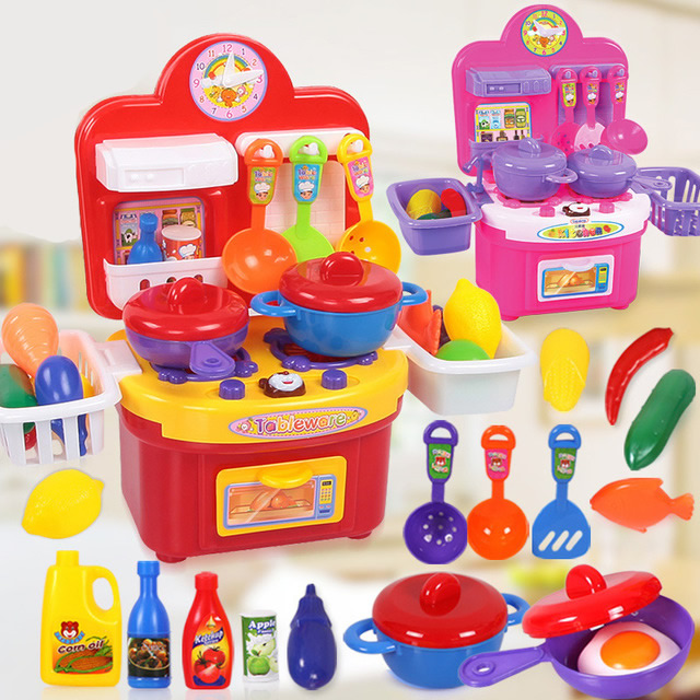 Hot Children Kitchen Toys For Girls Cooking Toys Kids Pretend Play