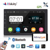 Hikity Car Multimedia Player 2 Din Android Radio GPS Bluetooth Car Audio Stereo FM Radios USB 7 Inch Touch Screen Display 7010B