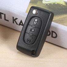 3 Buttons CE0523 Flip Remote Car Key Fob 433MHz ID46 PCF7941 VA2 HU83 Blade Lamp Light For Peugeot Citroen C2 C3 C4 C5