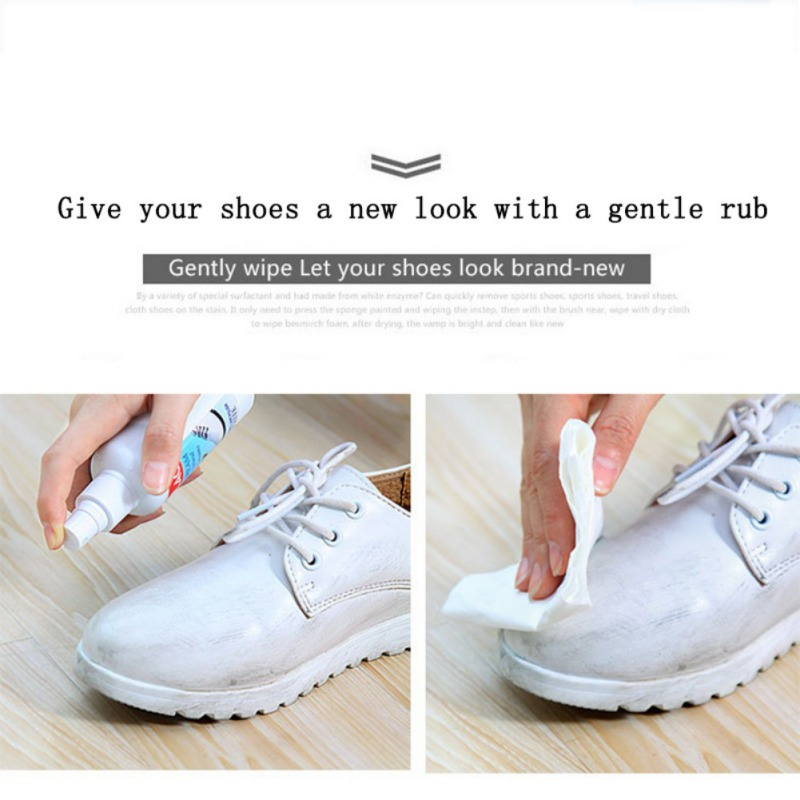 Image 4 - New White Shoe Cleaner  Polish Cleaning Tool  Household Daily Disinfectant  Laundry Cleaning  Sponge Supplies  Magical  Look-in Paint Cleaner from Automobiles & Motorcycles