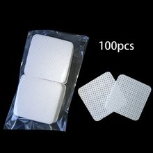 100Pcs/Bag Disposable Eyelash Extension Glue Removing Cotton Pad Bottle Mouth Wipes Patches Makeup Cosmetic Cleaning Tool(China)