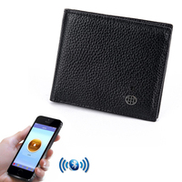 Anti lost Bluetooth with Smart Wallet Genuine Leather Men Walet Coin Purse Fashion bluetooth Multi function with GPS Tracker