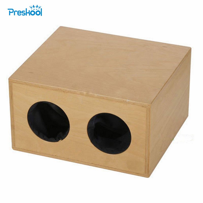 Baby Toy Montessori Mystery Box Early Childhood Education Preschool Kids Brinquedos Juguetes new wooden montessori family version brown stair width 0 7 cm to 7 cm early childhood education preschool training baby gifts