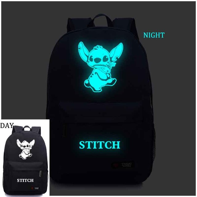 Lilo Stitch Backpack Noctilucent Backpack Anime Luminous Teenagers Men Women's Student School Bags Casual Backpack
