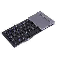 Folding Bluetooth 3,0 Drahtlose Tastatur Schlank Metall Faltbare Klavye für Android IOS Smartphone Windows Tablet Teclado Sem Fio
